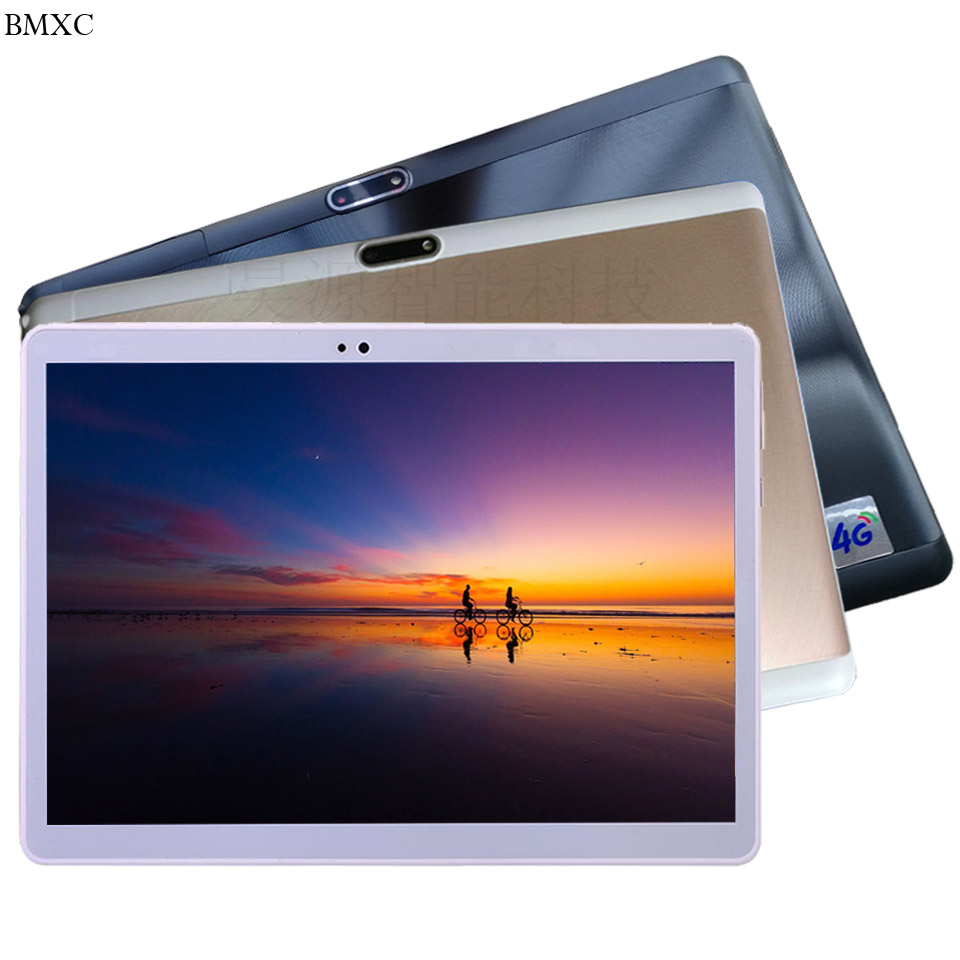 Free shipping 10 inch tablet 4G lte 3G Phone Call Tablet PC glass screen 1920*1200 32\64GB Octa\10 Core tablet Android 7.0 GPS цены онлайн