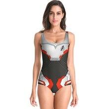 Swimsuit Avengers Endgame Quantum Warfare Cosplay Girl 3D Print Costume Spider Woman Body Bathing Suit Feminino Swimwear Maillot