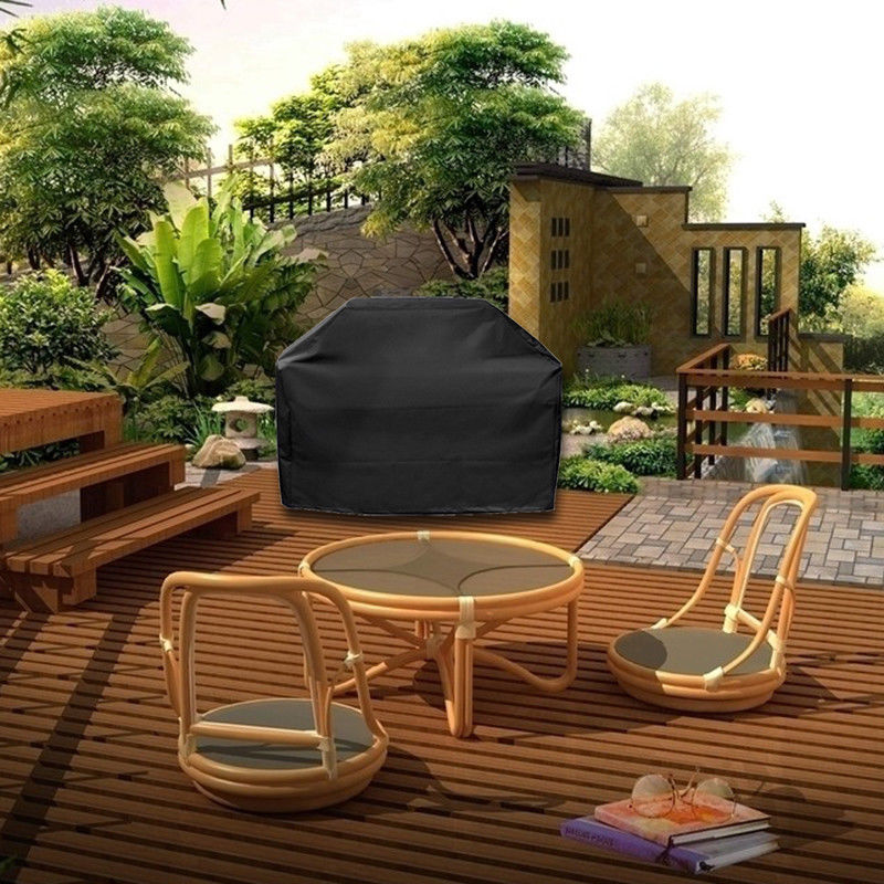 Image 4 - Large Size Outdoor BBQ Grill Covers Gas Heavy Duty for Home Patio Garden Storage Waterproof Barbecue Grill Cover BBQ Accessorie-in All-Purpose Covers from Home & Garden