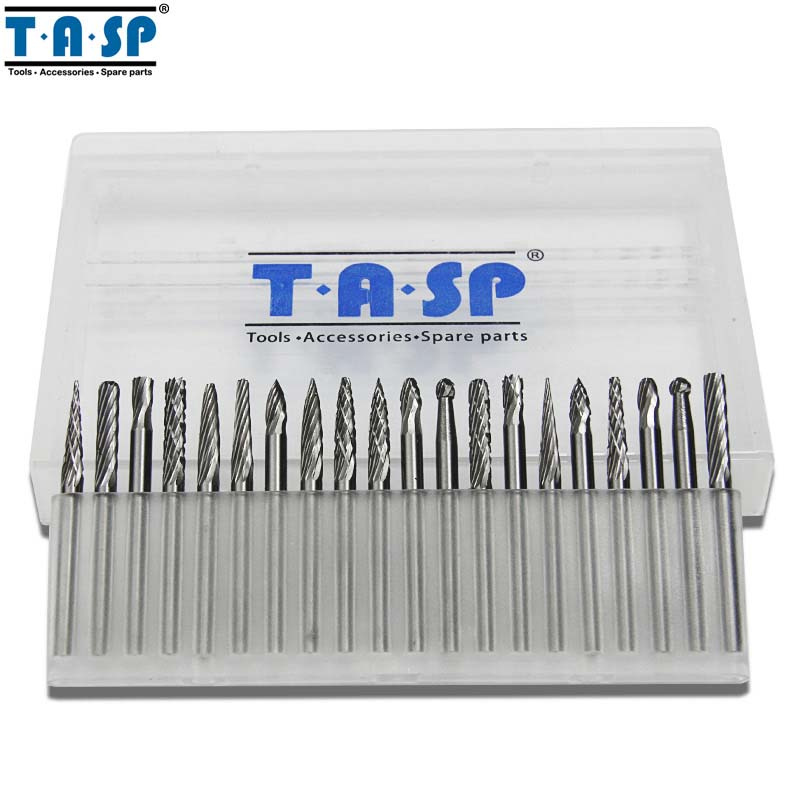 TASP 20 pz 3mm Fresa in carburo di tungsteno Set 1/8