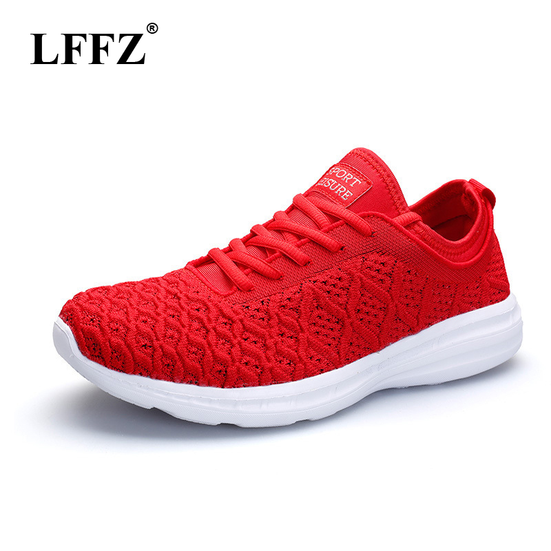LFFZ 2018 New Spring Fly Lovers Shoes Casual Shoes Students Couples Sneakers For Women Breathable Mesh Flat Shoes JH132 e lov women casual walking shoes graffiti aries horoscope canvas shoe low top flat oxford shoes for couples lovers