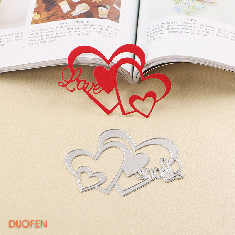 Set of 6 pcs Valentine/'s Heart Love Flower Stencils Love Decoration Card Face