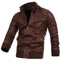 Motorcycle Leather Jacket For Mens Winter Leather Windbreak Overcoats Italian Style Mens Blazer Leather Jacket and Coats S2333