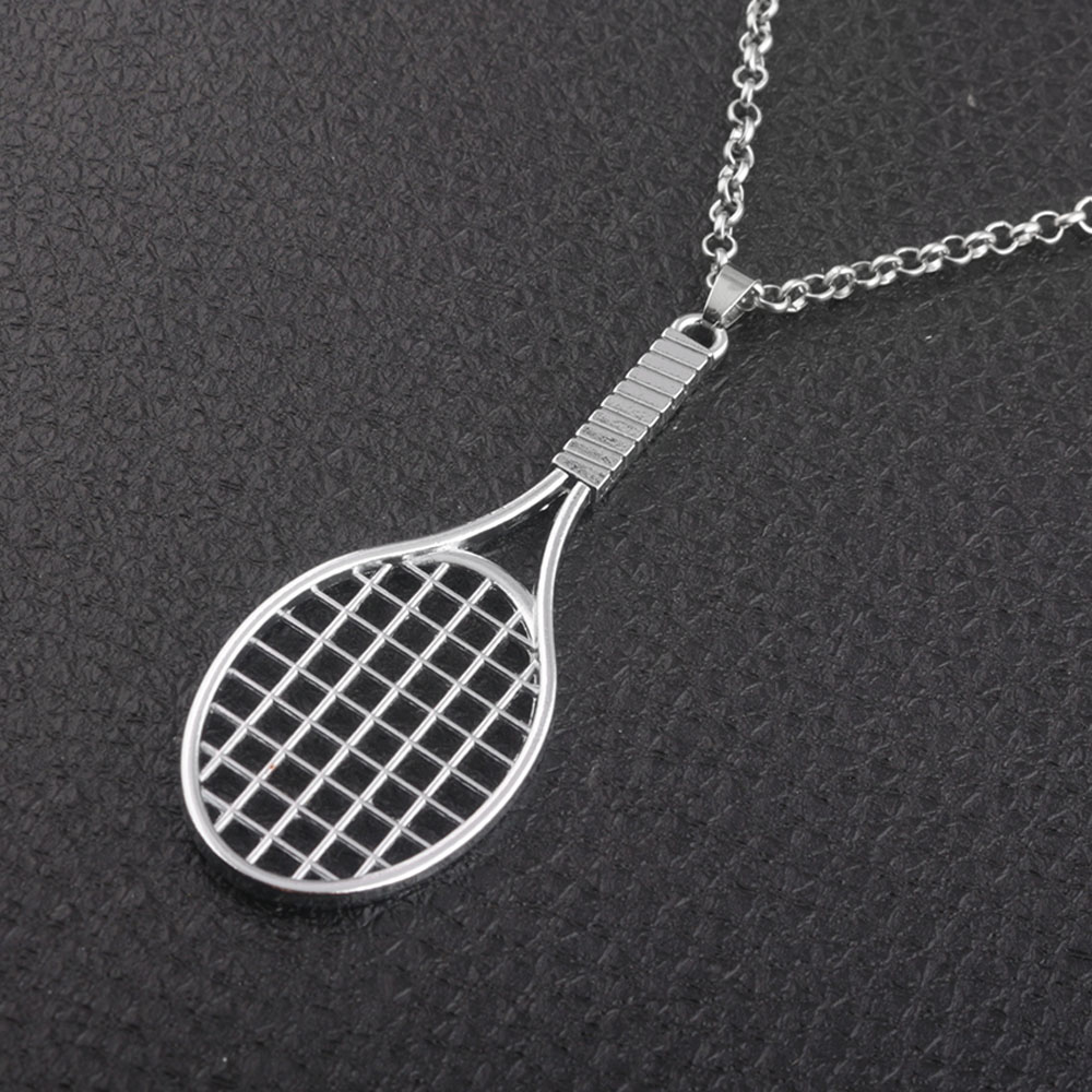 New arrival Fitness&Bodybuilding Badminton racket sports pendant necklace charm gift