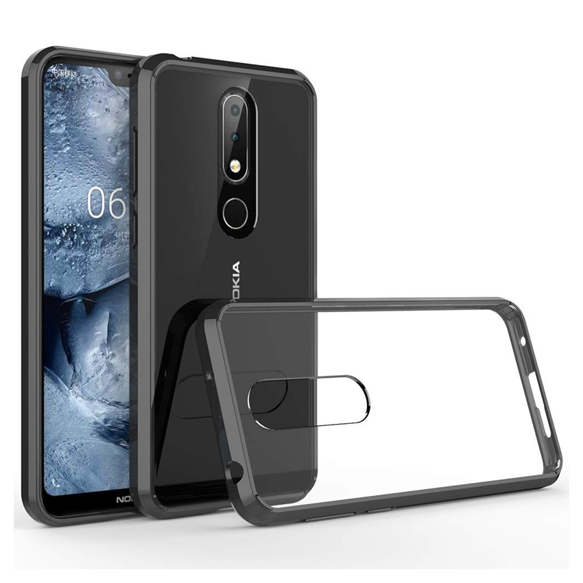 Soft <font><b>Silicon</b></font> TPU/PC Case For <font><b>Nokia</b></font> X6 Protective Fundas Coque Shockproof Crystal Clear Shell Hard <font><b>Back</b></font> <font><b>Cover</b></font> For <font><b>Nokia</b></font> <font><b>6.1</b></font> <font><b>Plus</b></font> image