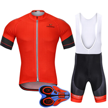 2018 Red Pro Cycling Kit Jersey Short Sleeve Bike Suit Breathable Anti-UV Maillot Ropa Ciclismo Sport Clothing