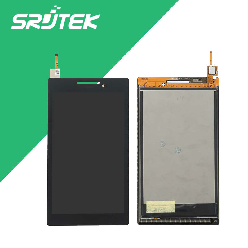 Srjtek New 7'' inch LCD Display + Touch Screen Digitizer Assembly Replacements For Lenovo Tab 2 A7-10 A7-10F Free shipping lenovo vibe z lcd display screen digitizer accessories for lenovo k910 5 5 inch smartphone free shipping track number in stock