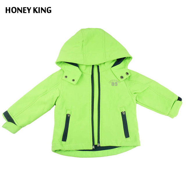 7ae9ec0c8 HONEYKING Brand 1 4T Boys Girls Windproof Softshell Jacket ...