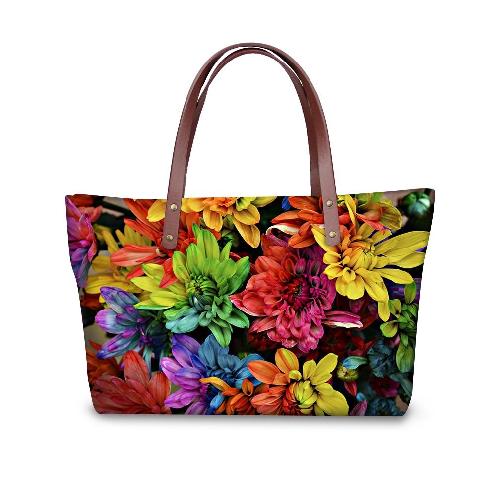 Vintage Style Floral Rose Women Handbags Large Capacity Female Shoulder Bags Fashion Flower Pattern Tote Bag Lady Messenger Bags tote bag
