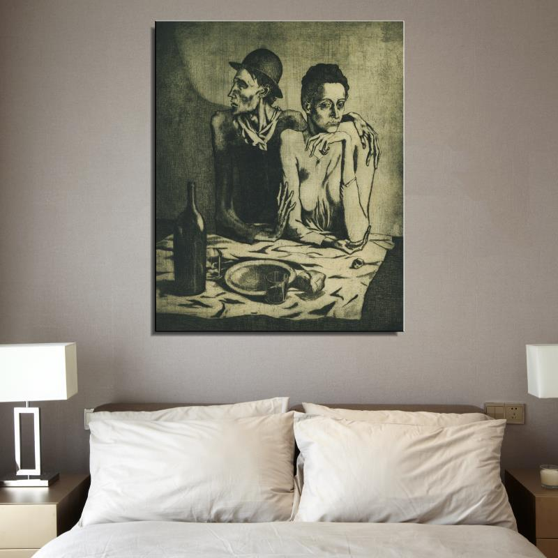 Frugal Home Decor: Picasso Repas Frugal Le Figure Painting Abstract Drawing
