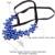 U7 azul jóias grande colar de cristal flor mulheres fita choker jardineira declaração de estilo bohemian maxi colar n530