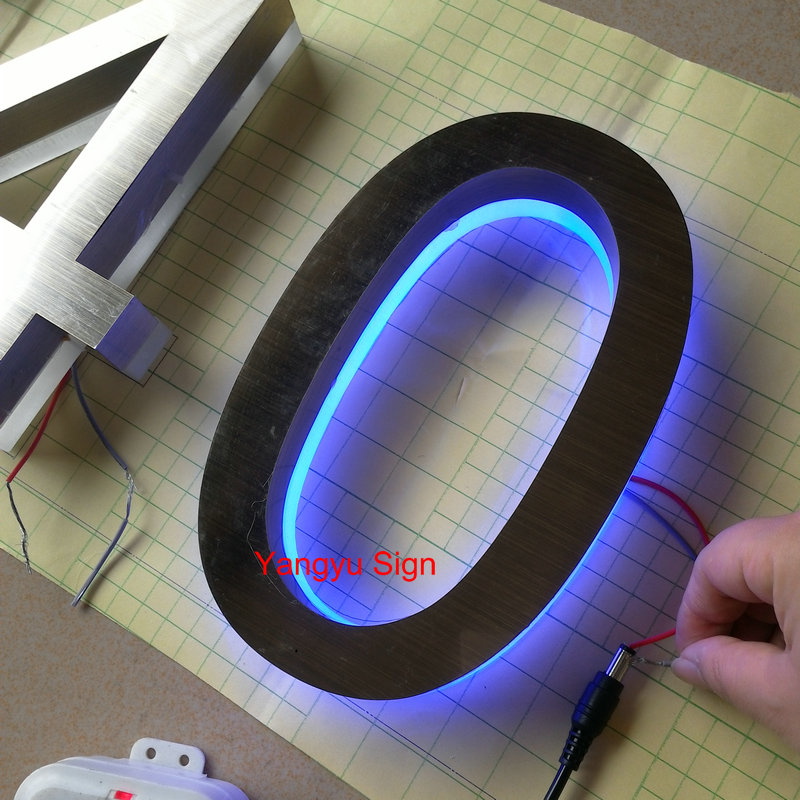outdoor stainless steel led backlit letters luminous house numberchina mainland