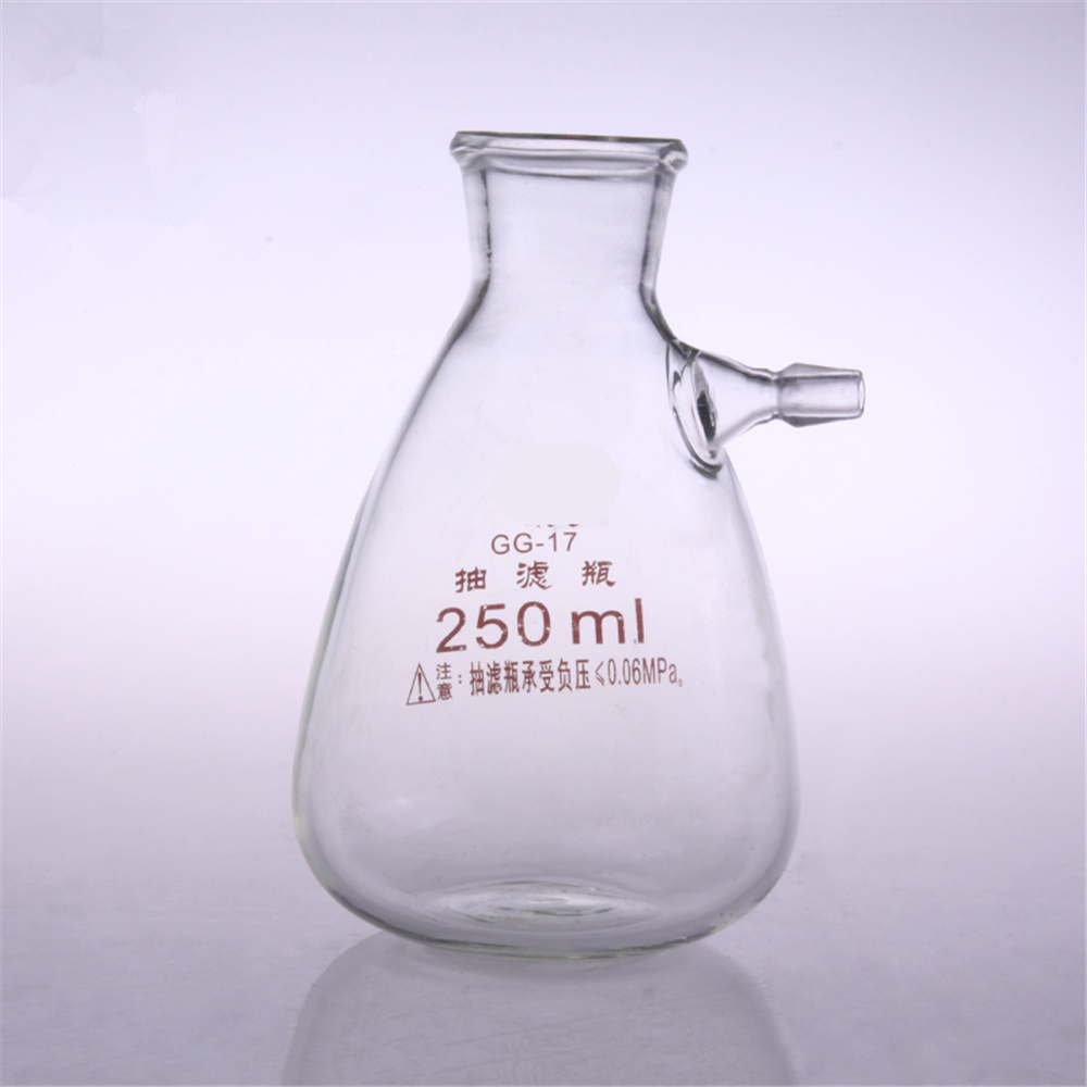 250ml Glass Buchne Flask with one tube ;Suction Filter Flask;Lab glassware;lab supplies 2500ml glass buchne flask with one tube suction filter flask lab glassware lab supplies