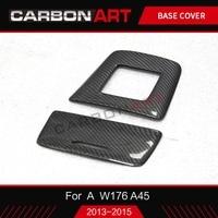 Carbon fiber car interior storage box ashtray cover trim Styling Sticker For Mercedes A Class A45 W176 A180 2013 2014 2015