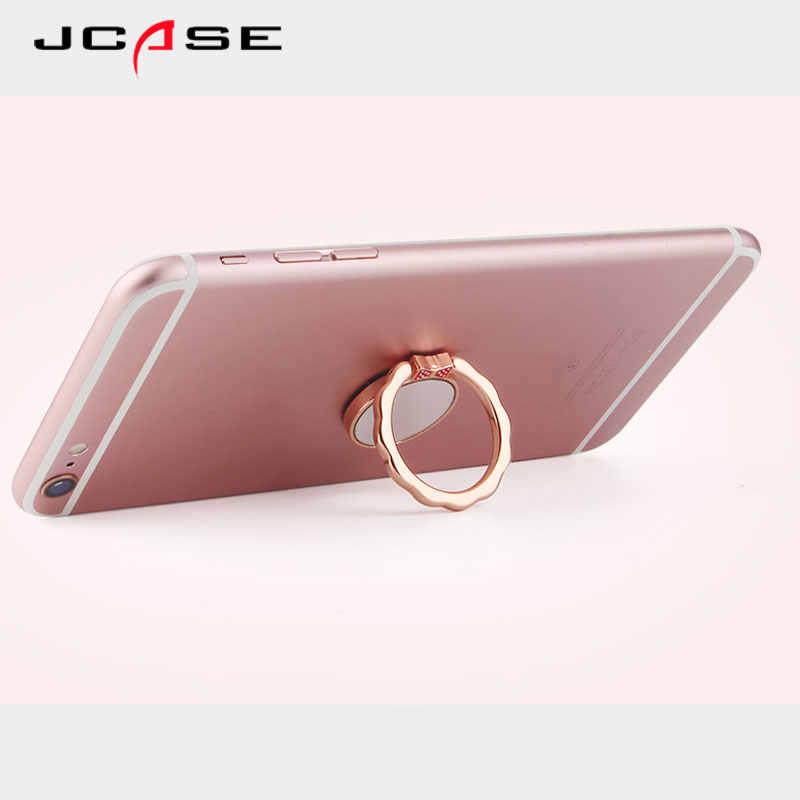 JCASE مرآة المغناطيس العالمي الهاتف البنصر حامل آيفون 7 6 Plus Xaiomi Redmi فيفو سيارة حامل اللوحي سطح المكتب قوس