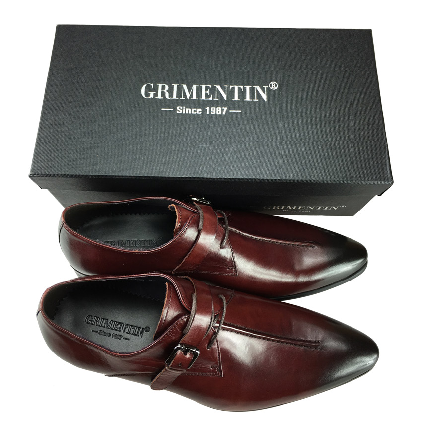 ... GRIMENTIN Fashion genuine leather men shoes dress black brown wedding  casual male shoes 2017 bde599079597