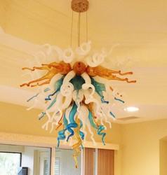 Gorąca Sprzedaż Multicolor Living Room Decor Chihuly Stylu Murano Szklane Żyrandole żyrandol oświetlenie led