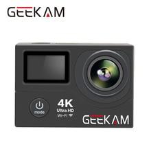 Оригинальный geekam H3/H3R действие Камера 4 К Wi-Fi Ultra HD 1080 P 60FPS 30 м Go Водонепроницаемый Pro Герой 4 стиль экстрим видео Камера