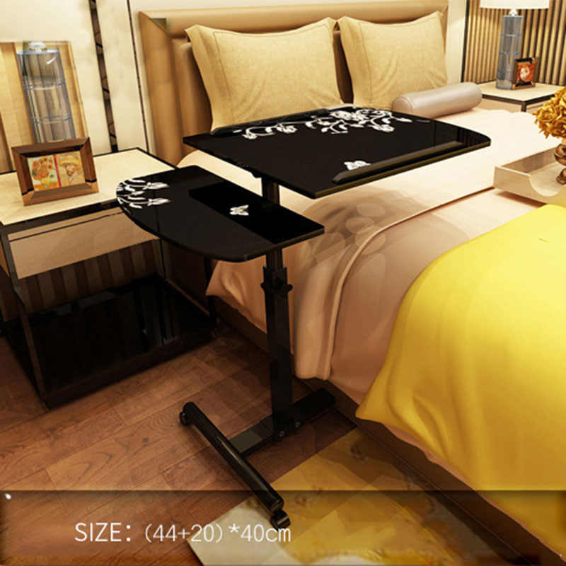 Lifting Mobile Notebook Table Computer Desk Bedside Sofa Bed 360 Degree Rotating Notebook Computer Desk Folding Laptop Table