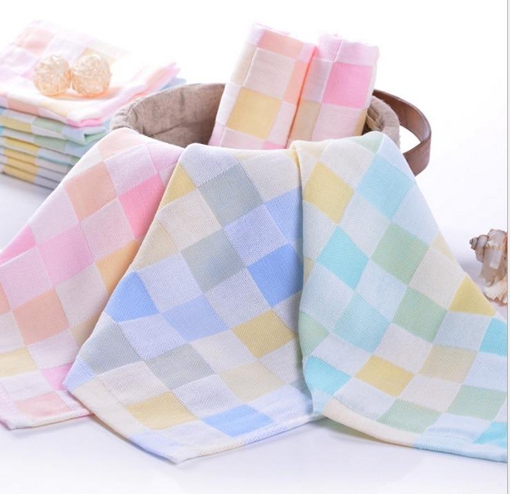 Double Face Technology Towel: 100% Cotton Kids Double Gauze Face Towel Baby Saliva Towel