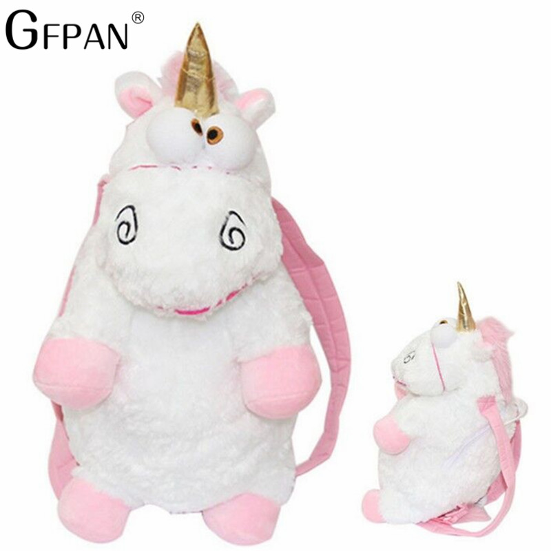 Hot Sale 60cm Unicorn Backpack Bag Fluffy Unicorns Shoulders Bag