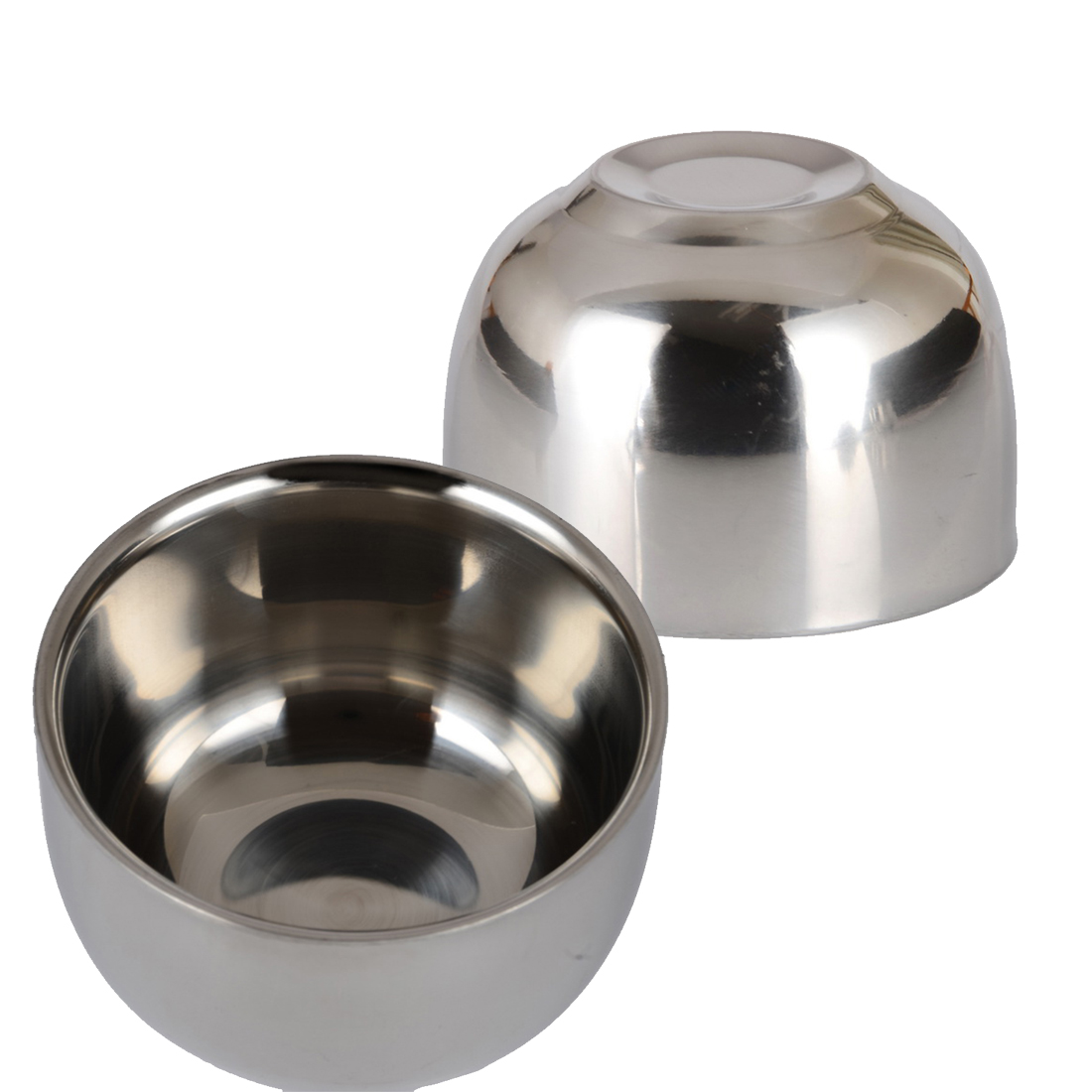 Wholesale 7.2cm Stainless Steel Nonmagnetic Cup Smooth surface Home and garden kitchen tool Kitchen accessary two layer Cup