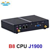 Причастник безвентиляторный мини ПК настольный компьютер Intel четырехъядерный J1900 Dual Lan 2RS232 RS422 RS485 windows Linux