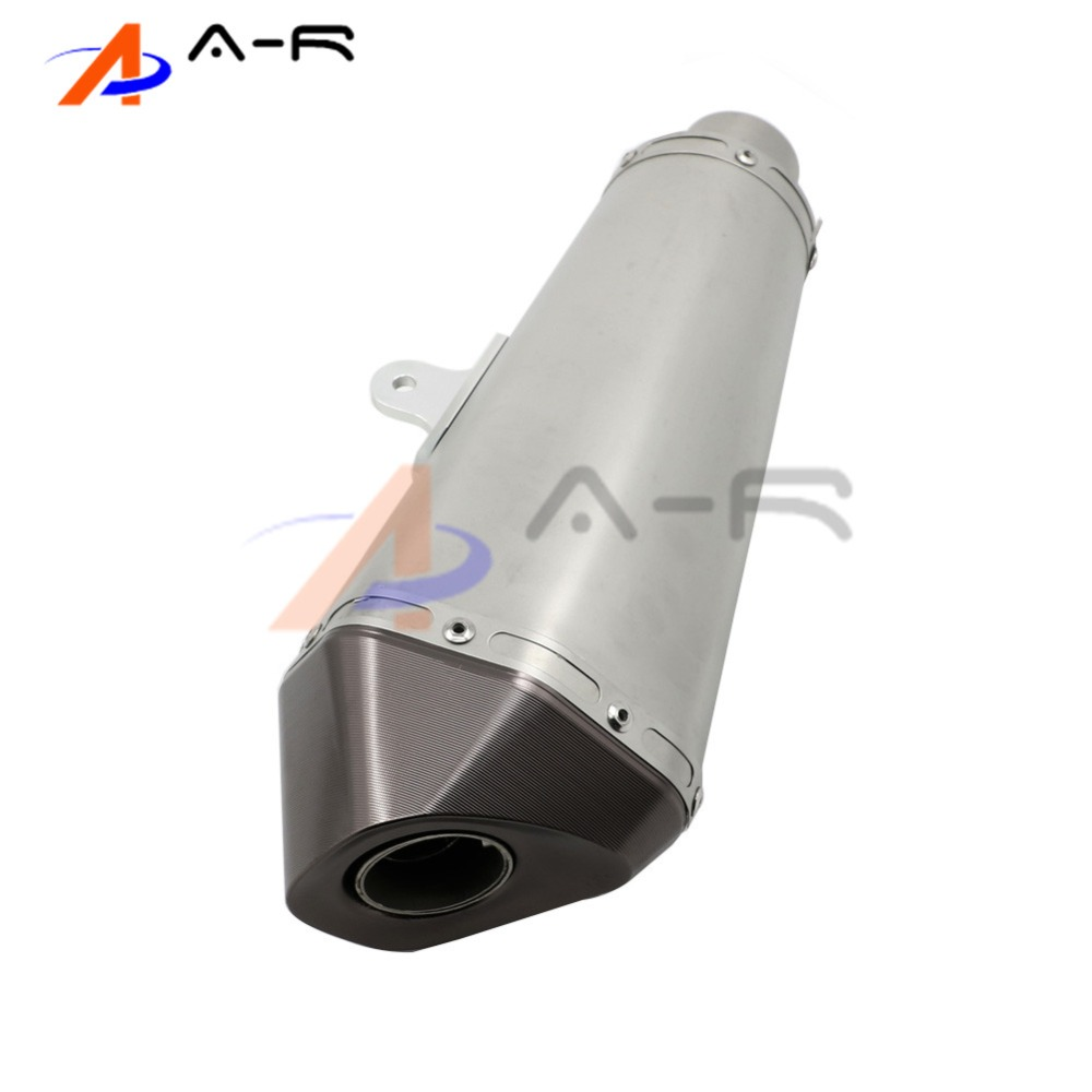 Motorcycle Stainless Steel Slip-On Exhaust Pipe For Kawasaki ER-6N ER-6F Ninja 650R 2012- 2015 2013 2014 motorcycle stainless slip on exhaust mid pipe for ktm 390 duke 2013 2014 2015 2016