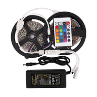 RGB Single Color LED Strip 10M 300Led 3528 SMD IR Remote Controller 12V 4A Power Adapter