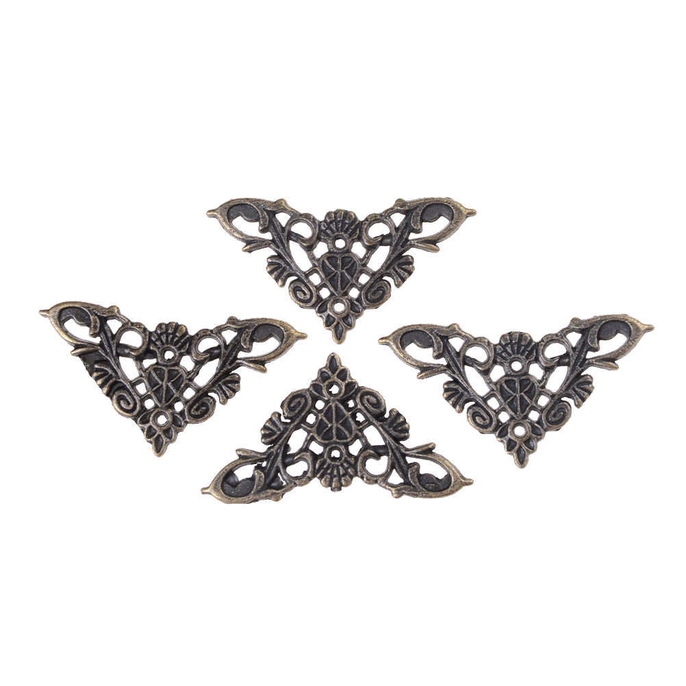 Butterfly Corner Bracket Bronze Jewelry Box Book Antique Frame Accessories Notebook High Quality 4PCS