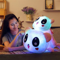 New Hot Cute 35cm Induction Light Panda Plush Toy Colorful Animals Stuffed Doll Best Gift for Kid Children Friend Birthday Gift