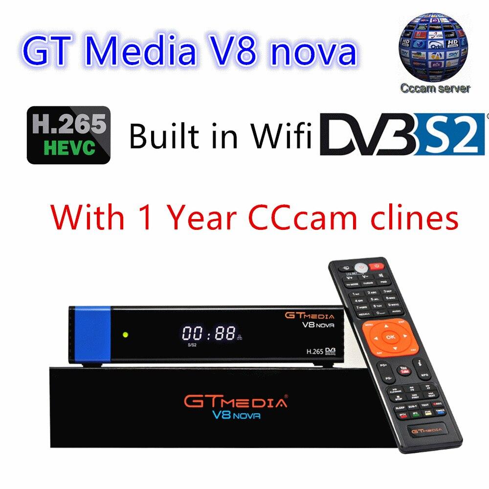 V8 Nova Blu DVB-S2 Ricevitore Satellitare digitale con 1 Anno Europa CCcam 4 clines Full HD 1080 p H.265 4 k Spagna Polonia REGNO UNITO Germania