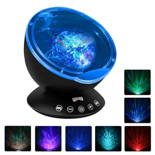 купить Ocean wave projector Starry Sky Aurora LED Night Light Remote Projector Novelty Lamp bedside USB Lamp bedroom children's lamps онлайн