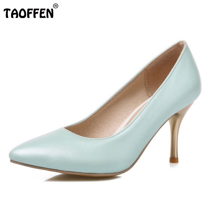 Fashion Women Pumps Candy Colors Sexy High Heels Shoes Women Point Toe Ladies Dress Shoes Zapatos Mujer Size 30-47
