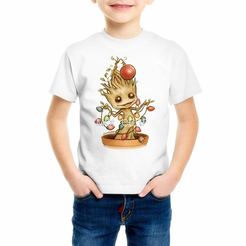 Summer funny Kids Groot T shirts Newest Guardians of the Galaxy 2 Girls/Boys t-shirt Anime I AM GROOT T Shirt Tops Tee Z14-3 2017 summer autumn women skinny jeans high waist blue elastic long slim pencil pants trousers