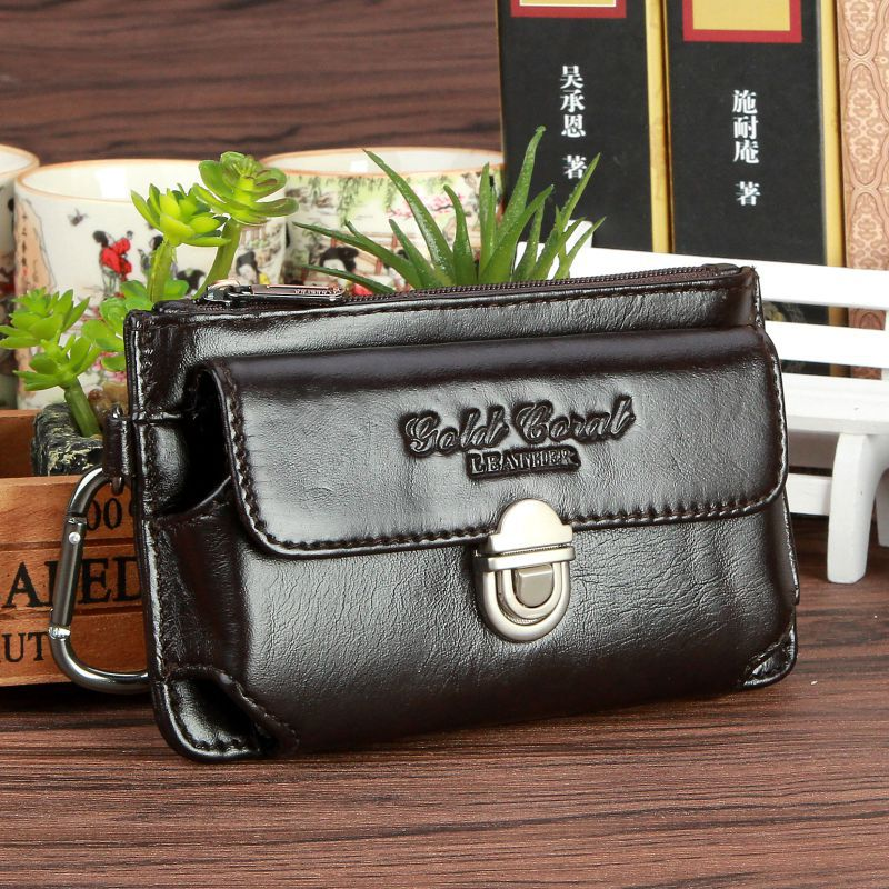 Genuine Leather Belt Waist Bags Men Hip Bum Hook Fanny Pack Real Cowhide Loop Skin Casual Fashion Mobile/Cell Phone Case Bag