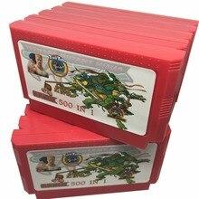10 Pacote de 500 em 1 Cartucho de Jogo de 60 Pinos para 8 Bit Consola de jogos com Nijia Turtles1 2 3 4/Contra 1 2 3 6 7 8/Tiny Toon 1 2 3 etc.