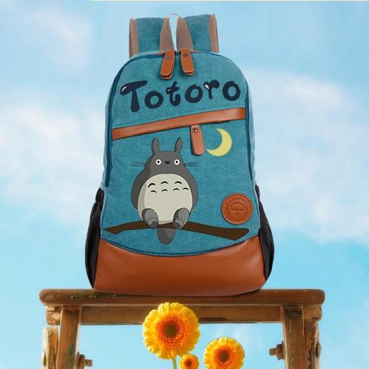 Anime Tonari No Totoro Cosplay Hand-painted Male And Female Korean Tide Student Bag Diy Personalized Backpack