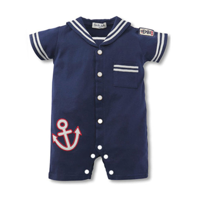 Baby Rompers Summer Baby Boy Clothes Newborn Baby Clothes Navy Style Baby Girl Clothes Roupas Bebe Infant Jumpsuits Kids Clothes summer 2017 navy baby boys rompers infant sailor suit jumpsuit roupas meninos body ropa bebe romper newborn baby boy clothes
