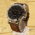 No Fake Korea Famous Brand JULIUS Men's Quartz Watches Round Fashion Luxury Sports Date Waterproof Leather Casual Watch 007