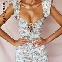 Kryptographische Vintage Floral Sexy Spitze Bis Geraffte Frauen Kleid Sommer Schmetterling Hülse Backless Mini Kleider Schlank Elegante Vestido