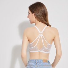 Sexy Halter Lace Crop Top Seamless Breathable Cropped Hollow Fitness Tops Summer Women Tanks Crochet Top Bralette Bralet Camis