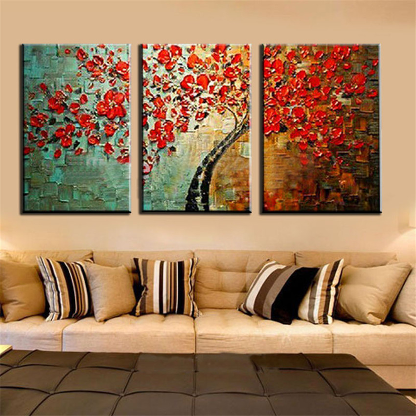 arte abstracto moderno de la decoracin de flores pintura al leo pintado a mano con textura