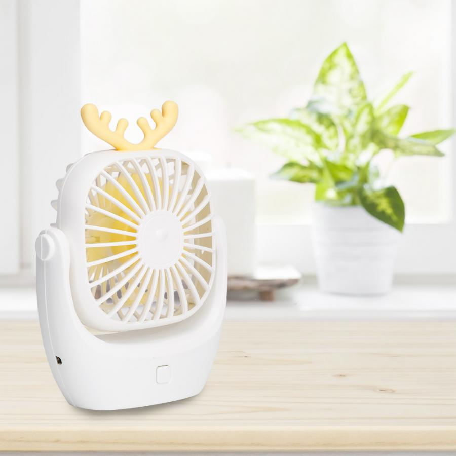 Mini Portable Hand held Desk Fan Cooler Cooling Battery Travel Air Conditioner
