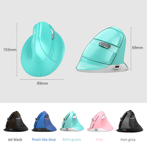 Image 2 - Delux M618 Mini Gaming Wireless Mouse Ergonomic Vertical Mouse Bluetooth 2.4GHz RGB Rechargeable Silent click Mice for Office