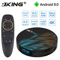 JKING HK1 Max Smart TV Box Android 9.0 4GB 64GB RK3328 1080p 4K Wifi Netflix Set top Box Media Player 2G 16G Android Box 9.0