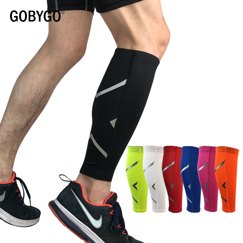 GOBYGO 1PCS Men/Women Cycling Leg Warmer Breathable Basketball Football Running Compression Leg Sleeve Knee Pad Sports Protector