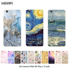 Soft TPU Case for Lenovo Vibe K5 Plus Silicone Cover Back Phone Cases Fashion Printed for A6020 / A6020a46 / Lemon 3 Shell(China)