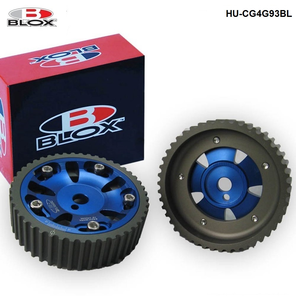 For Mitsubishi Mirage 93-02 Dohc Engine Blox Aluminum Racing Adjustable Vernier Cam Gears Pulleys 2Pcs HU-CG4G93BL