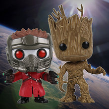 Funko pop Marvel Superhero Movie guardians of the Galaxy Star-Lord Boom man Grootted Pvc Action Figure speelgoed voor kinderen geen doos(China)
